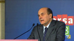 Bersani in conferenza stampa