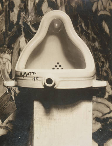 Fountain, photograph of sculpture by Marcel Duchamp, Alfred Stieglitz, 1917