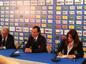 Prandelli in conferenza stampa
