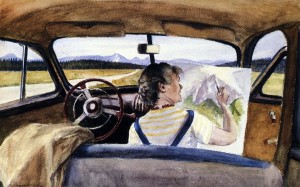 Edward Hopper, Jo in Wyoming. Acquerello su carta. 1946