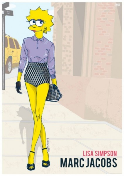 Lisa Simpson in Marc Jacobs