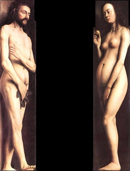 Fig. 1 - Jan Van Eyck, Adamo ed Eva