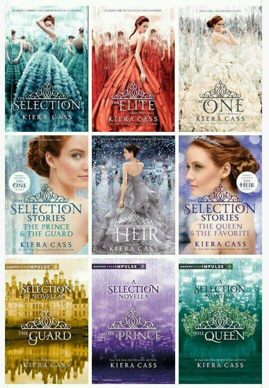 The Selection Series Book Cover ~ The selection series la saga all ombra di hunger games